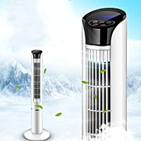 TY&WJ Portable Air conditioner fan Home Tower Folding fan Mute Fan Hours Machine Vertical Flat bladeless fan-White 25x80cm(10x31inch)