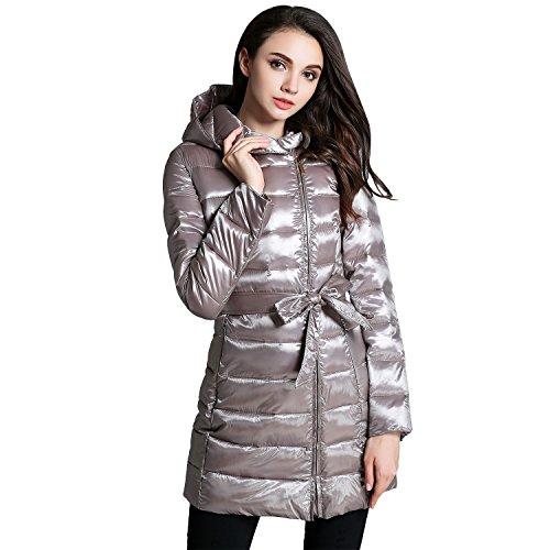 BLDO Women's Lightweight Hooded Mid-length Coat Jacket Parkas