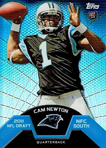 Cam Newton football card (Carolina Panthers) 2011 Topps Chrome Rookie Refractor #TMB1 ()