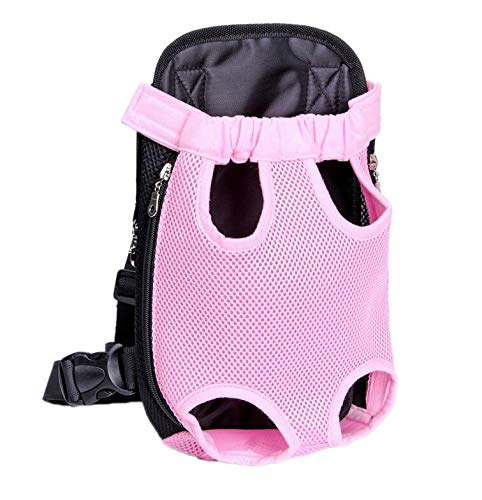 Pink Camo Pet Carrier - yelesley Pet Dog Carrier Backpack Mesh Camouflage Outdoor Travel Products Breathable Shoulder Handle Bags for Small Dog Cats (M, Pink)