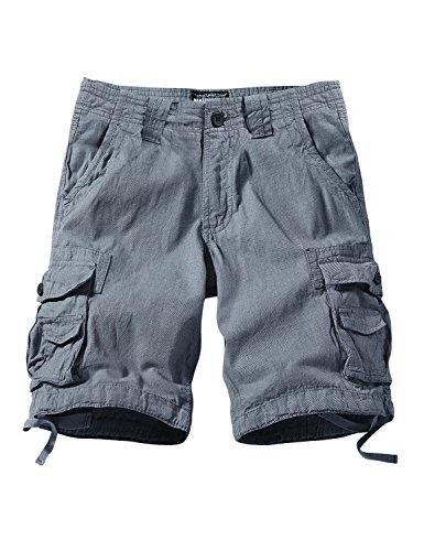 (Match Men's Comfort Cargo Short (Label Size 5XL/42 (US 40), 3611 Blue))