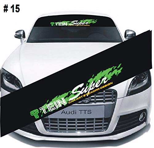 Racing Tein Super (TEIN SUPER Car Font Window Windshield Sticker Clear Banner Decal Sticker Racing)