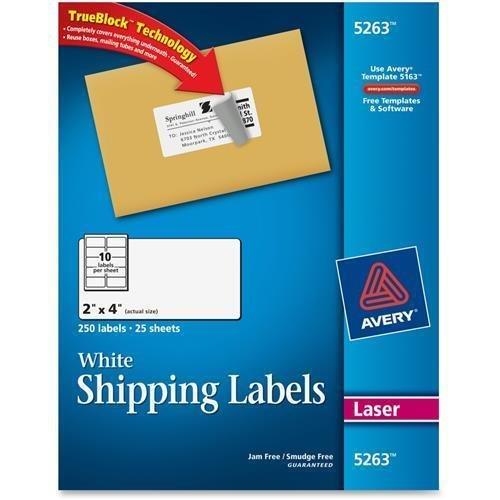 5263 Avery Easy Peel Address Label - 2