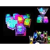 Xcellent Global Glaçon lumineux LED Lot de 12 Coloré Carré M-LD038