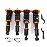 Coilover Suspension Lowering Kit Racing Coilover Shock Absorber Strut Adjustable Height Fits for 1990-2005 Mazda Miata NA6 NA8 NB1 NB2/Base/SE/LE/M Edition/STO/10th Anniversary/LS Convertible 2D