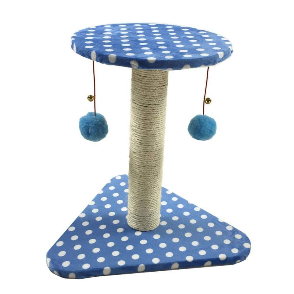 TOUYOUIOPNG Deluxe Multi Level Cat Tree Creative Play Towers Trees for Cats Cat climbing frame Cat grab column cat tree cat jumping platform for sleeping games 23cm 21cm  24cm (color   bluee)