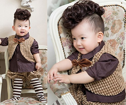 [Children's photography 1-2-year-old Guan decoration, fresh baby boys wigs, high temperature wire] (Halloween Costumes Elvira)
