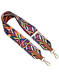 Donalworld Wide Strap Replacement Floral Removable Crossbody Strap for Bags
