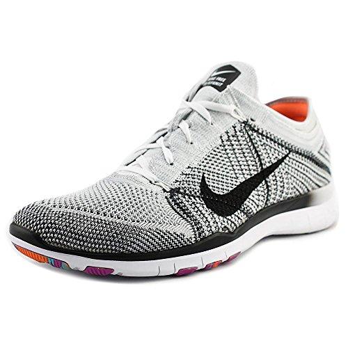 Nike Womens Free Tr Flyknit Scarpa Da Corsa (9.5, Platino Puro Nero Bianco Iper Violetto)