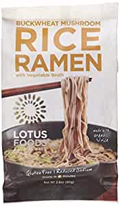 Lotus Foods Buckwheat Mushroom Brown Rice Ramen with Vegetable Soup, 10 Count