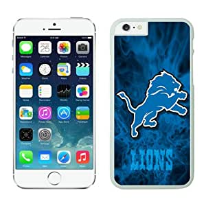 NFL Detroit Lions iPhone 6 Cases 24 White 4.7 Inches NFLIphoneCases12611