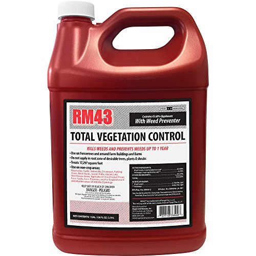 RM43 43-Percent Glyphosate Plus Weed Preventer Total Vegetation Control, 1-Gallon