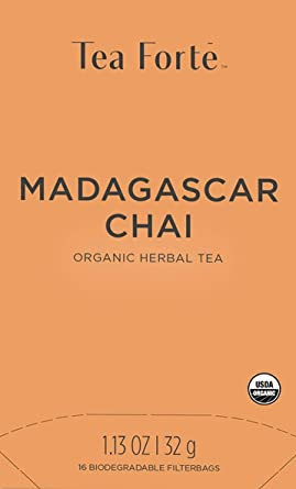 Tea Forte Madagascar Chai Bio | Caja de Infusión 16 bolsas ...