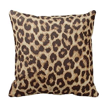 Amazon Classic Brown Leopard Print Decorative Square Throw Gorgeous Leopard Print Pillows Decorative