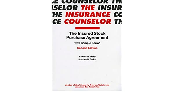 Amazon Com The Insured Stock Purchase Agreement With Sample