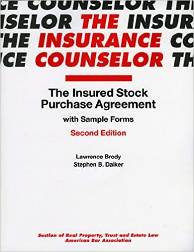 AmazonCom The Insured Stock Purchase Agreement With Sample Form