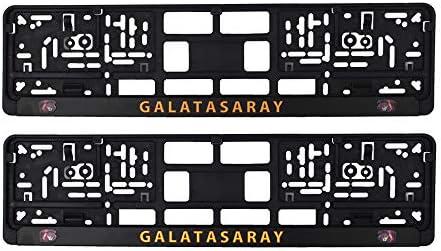 Galatasaray Aslan Cim Bom Kennzeichenhalter Premium Nummernschildhalterung Für Eu Auto Kennzeichen 52 X 10 Cm 2 Stück Stabile Halterung Für Kfz Nummernschilder Kennzeichenhalterung Auto