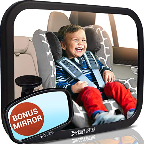 COZY GREENS Baby Car Mirror | Crash Tested, Stable, Shatterproof | 100% Lifetime...