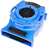 B-Air VENTLO-25 1/4 HP Low Profile Air Mover Carpet Dryer Floor Fan for Home Retail Plumbing Water Damage Restoration Blue
