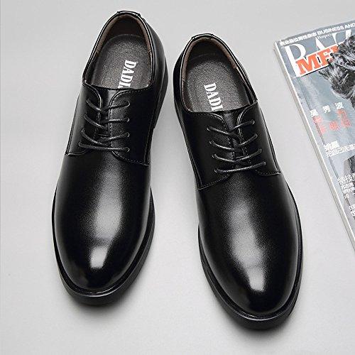 uomo Jiuyue 2018 Scarpe pelle Nero shoes Uomo in Nero stringate 42 EU Dimensione per oxfords Scarpe Pelle sintetica Color fB4xfR