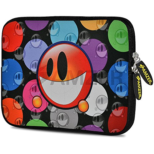 Amzer 7.75-Inch Designer Neoprene Sleeve Case Cover Pouch for Tablet, eBook and Netbook - Smiley Bubble (AMZ5050077)