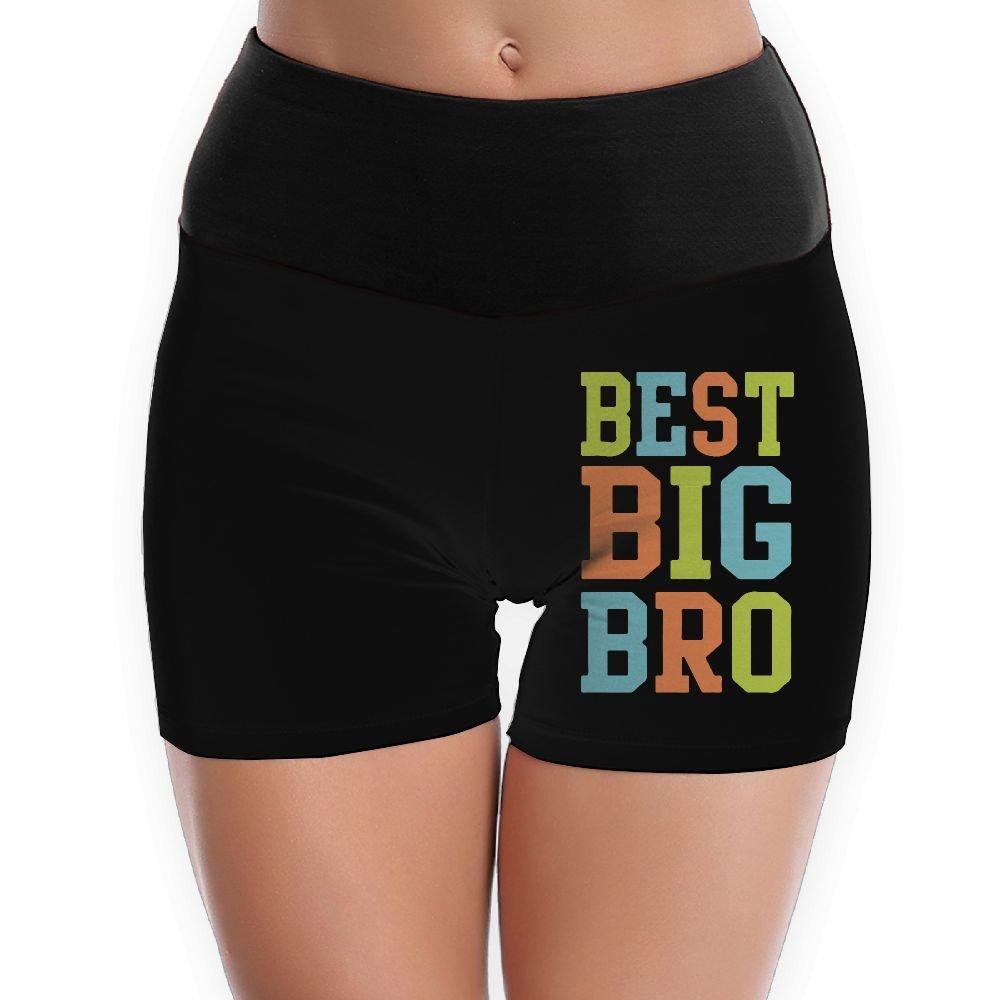 LDGT@DU Womens Yoga Shorts Best Big Bro High-Waist Workout Shorts