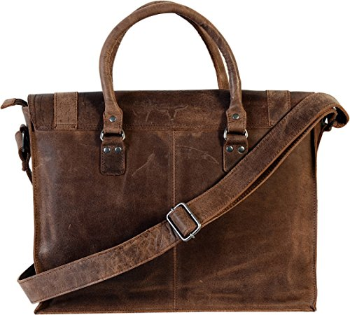Fairkraft , Borsa Messenger  Marrone Tobacco