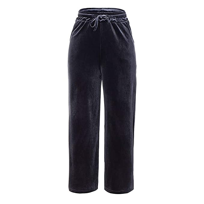 Cocoty-store 2019 Pantalones Anchos de la Pierna Suelto Pantalon ...