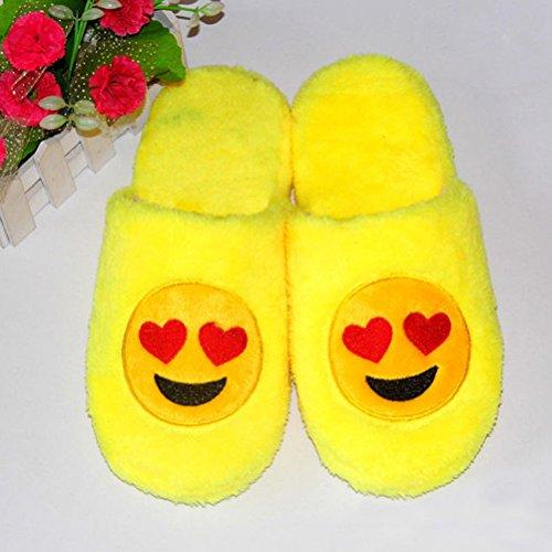 BESTOYARD coton intérieur Antidérapant Pantoufle Hiver en suède Emoji Chaussons et Chaussons Zw1raZqH