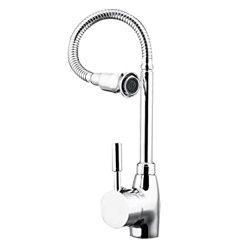 Chrome Pull Down Single Handle Kitchen Sink Faucet Commercial