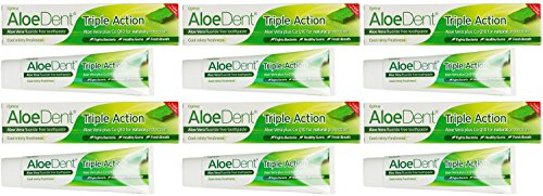 (6 PACK) - Aloe Dent - Aloe Vera Triple ActionT/paste | 100ml | 6 PACK ()