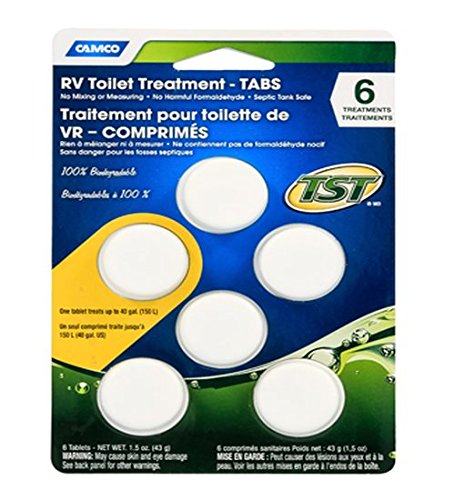 Camco 41152 TST Toilet Treatment/Tabs - 6 pack