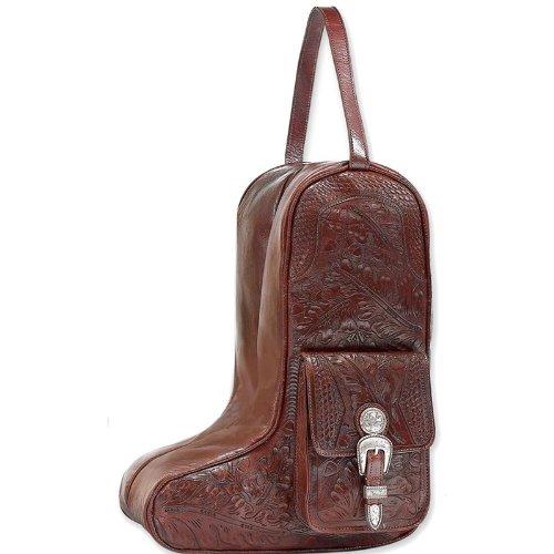 Mahogany Oakleaf Zip-around Boot Shoulder Bag by American West