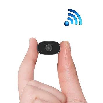 8669e8717 Cámara espía,PNZEO Mini cámara oculta 1080P HD WiFi inalámbrico Monitor  remoto de la cámara pequeña IP cámara grabadora de vídeo de movimiento ...