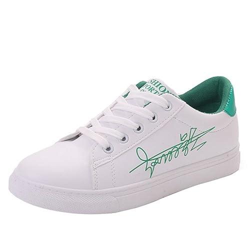Con Cordones zapatos Para Mujer Planos Zapatillas Casuales FKJl1c