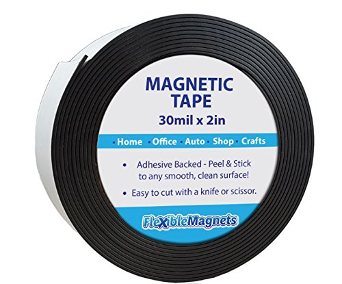 Flexible Magnets New 10 Feet Adhesive Magnetic Strip - 2
