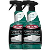 Weiman Granite Cleaner and Polish - 24 Ounce [2 Pack] for Granite Marble Soapstone Quartz Quartzite Slate Limestone Corian Laminate Tile Countertop and More