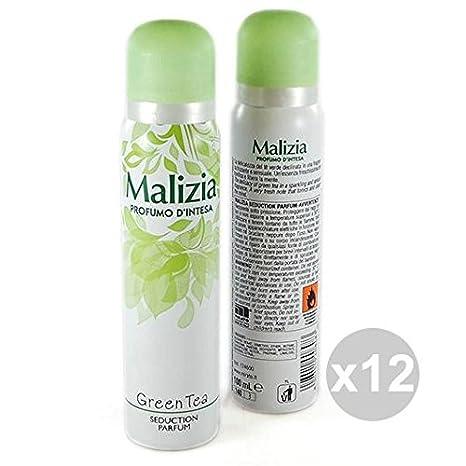 12 pezzi Malizia Profumo d'intesa DEO SPRAY GREEN TEA deodorante corpo donna | eBay