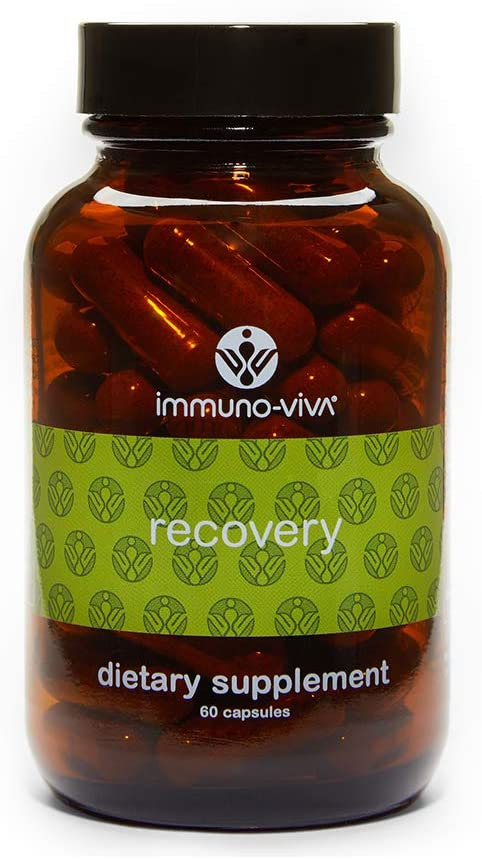 Immuno-Viva Recovery Natural Supplement, 60 Capsules | Herbal Energy Booster, Post-Workout Muscle Recovery | High-Potency Antioxidant Formula: Health & Personal Care