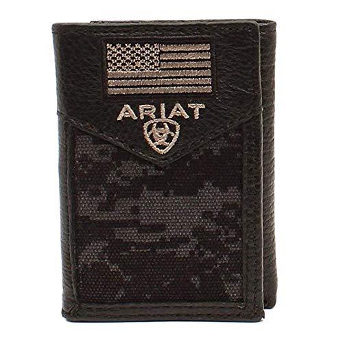 Ariat Men's Trifold Digital Camo Wallet, Black, OS