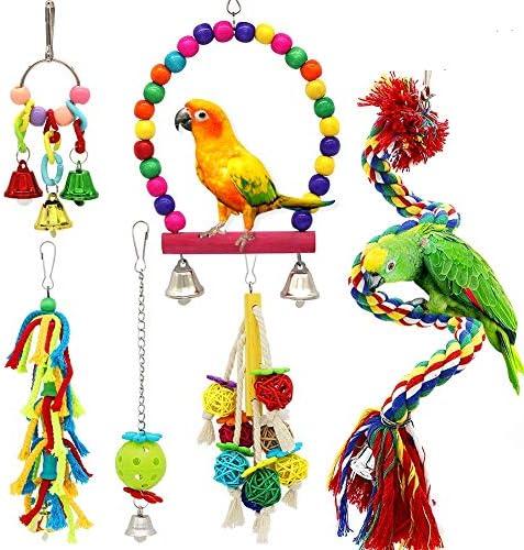 petuol-small-bird-swing-toys-6-pcs