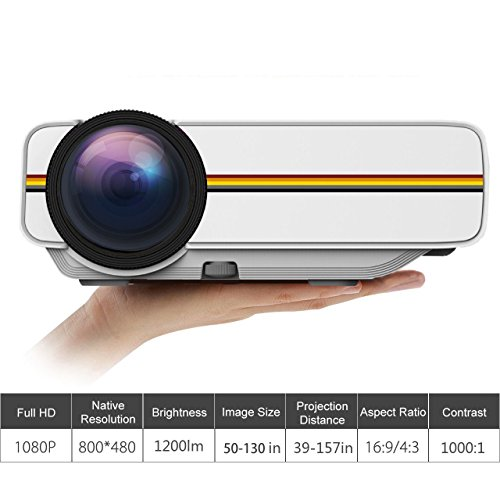 Authentic rofisa mini portable hd 1080p led multimedia for High resolution mini projector