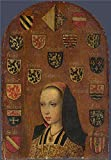 Oil Painting 'Margaret Of Austria 1493-5, Attributed To Pieter Van', 8 x 12 inch / 20 x 29 cm , on High Definition HD canvas prints is for Gifts And Basement, Hallway And Laundry Room Decoration, huge