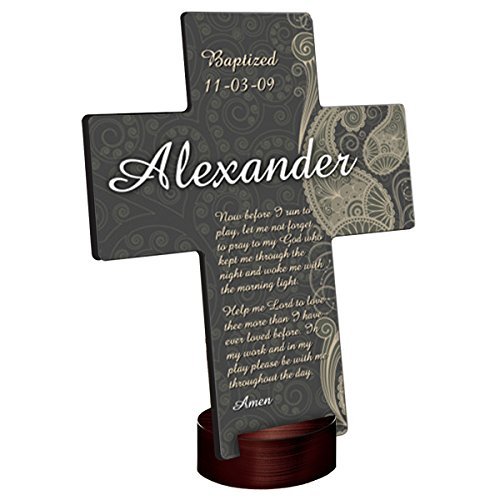 Personalized Paisley Praise Cross - Personalized Cross - Custom Cross - Monogrammed Cross ()