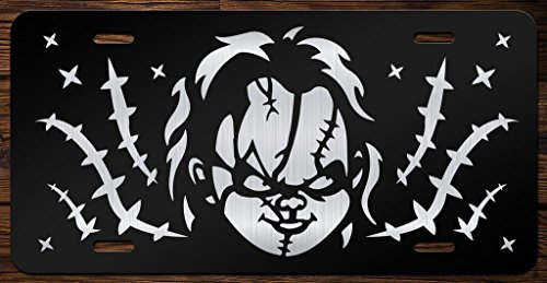 Chucky Face Vanity Front License Plate Tag KCE076 -