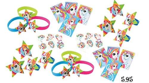 Rainbow Unicorn Favor Bundle Pack for 12