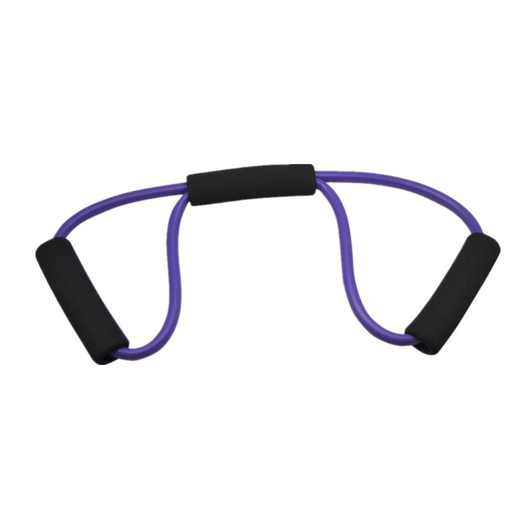 Vibola Resistance Training Sport Gym Muscle Yoga Bands 8-Type Fitness Equipment Rope (Purple)