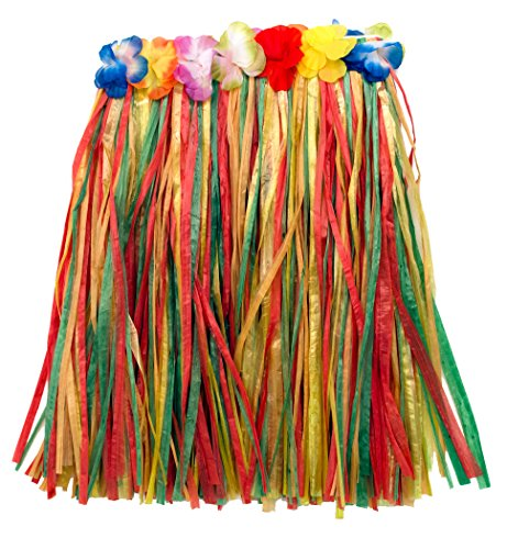 [Loftus Adult Colorful Hawaiian Hula Girl Adult Skirt, 24