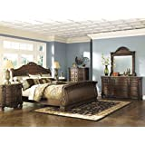 Amazon com  White   Bedroom Sets   Bedroom Furniture  Home   Kitchen Ashley B553 North Shore Bedroom Set   In Home White Glove Delivery Included   6 Pc King Sleigh Bedroom Set . Bedroom Set White. Home Design Ideas