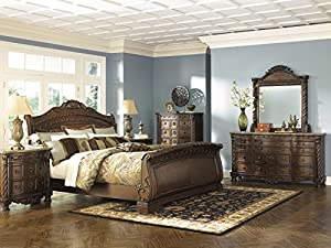 Ashley North Shore Sleigh B553 5 Pc Bedroom Set (King)